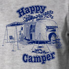 HAPPY CAMPER camping outdoors funny camp lifestyle summer country hiking T-Shirt