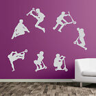 Stunt Scooter New Diy Deco Decal Vinyl Stickers Decorative Kids Sports Wall A49