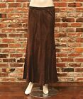 NWT TWO STAR DOG TSD LINEN DARK BROWN SKIRT W COTTON LINI...