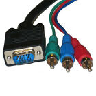 D-Sub HD15 VGA SVGA to 3RCA RGB Component Video Cable - 6Ft,10Ft,15Ft,25Ft