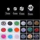 Bicone Faceted Crystal Glass Loose Spacer Beads Wholesale Lot 3mm/4mm/6mm/8mm