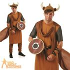 Adult Viking Man Costume Mens Medieval Fancy Dress Outfit New