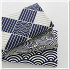 50x160cm Cotton Twill Fabric Quilt Covering Bedding Ripple Spray Check N630-1 E#