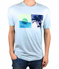 REEF. Lifes Short, Go Surfing. Mens Light Blue Short Sleeve T-Shirt. Size Medium