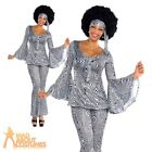 Dancing Queen Costume Ladies 1970's Fancy Dress Disco Diva Outfit New