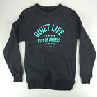The Quiet Life City of Angels Crew Neck Sweat Shirt New Charcoal S