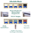 Electric Solar Powered Blackout Blinds Designed To Fit VELUX® Skylights + Remote