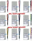 NFL Team breakaway Lanyard with ticket holder-select your team