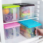 Food Fruit Sealed Cans Stackable Kitchen Refrige Crisper Storage Box With Handle