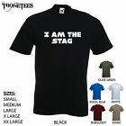 'I am the Stag' Mens Wedding/ Marriage/ Party T-shirt. S-XXL
