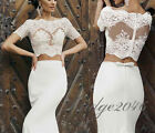 Sexy Two-Piece Wedding Dresses Glamorous Lace Bridal Gowns Mermaid Wedding dress