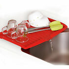 GN2 Sink Dish Rack Drainer Drying Kitchen Holder Cup Bowl Dryer Space Organizer