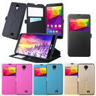 4 Colors Windows PU Stander Card Solt Pu Cover Case For BLU Neo XL N110U
