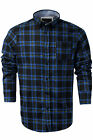 Mens Check Casual Shirt Brave Soul Duffey Flannel Brushed Cotton Long Sleeve Top