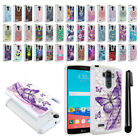 For LG G Stylo LS770 G4 Note/ H740 Studded Bling HYBRID Case Phone Cover + Pen