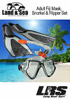 NEW Adults Silicone Fiji SNORKELLING SET Mask Snorkel Fins + FREE MESH CARRY BAG