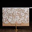 Personlized White&Brown Hollow Laser Cut Wedding Party Invitations With Envelope