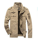 Autumn Man's Military Outdoor Travel Jacket Zipper Plus Size Stand Collar Coat
