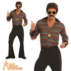 Adult Disco Fever Costume 1970s Mens Boogie Fancy Dress Outfit New