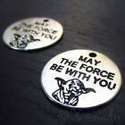 Star Wars Yoda Charms - May The Force Be With You Pendants C0614 - 5, 10, 20PCs $3.0 USD on eBay