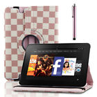 "360 Rotating Stand PU Leather Case Cover For Amazon Kindle Fire HD HDX 8.9"" inch"