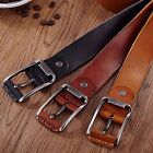 Fashion Men's Casual Vintage Leather Belt Strap Pin Metal Buckle Waistband #JP