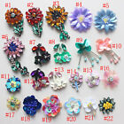10-20pcs sequins Rhinestones beads flowers appliques patches brooch 4120