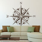 Compass Rose Vinyl Wall or Ceiling Decal - nautical nursery art map decor K641