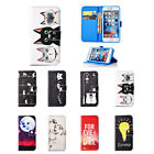 Drawing Leather Magnetic Flip Stand Case Cover for iPhone 5 6 S 5C Touch 7 Plus