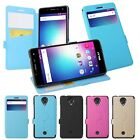 4 Colors Windows PU Stander Card Solt Pu Cover Case For BLU R1 HD