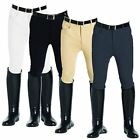 Best on Horse Adults Mens Jumping Dressage Knee Patch Cotton Riding Breeches