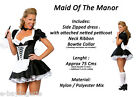 Sexy Black and White French Maid Costume Party Dress Up Halloween hen night