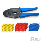 Crimpzange 0,5 - 6 mm² + Stossverbinder Rot Blau Gelb Set Crimp Zange Handzange