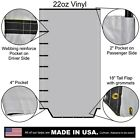 22oz Solid Vinyl Roll Tarp with Tail Flap for Dump Trailer