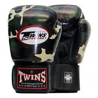 Twins Special Muay Thai Boxing Gloves Leather w/ Velcro Jungle Camo FBGVJG