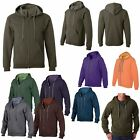 MEN'S HOODIE, ZIP UP, 50/50 COTTON/POLY, LOW PILL, MID-WEIGHT, S M L XL 2X 3X