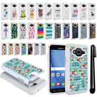 For Samsung Galaxy J3 J310/ J3 V/ Sky S320 Crystal Bling HYBRID Case Cover + Pen