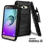 Shockproof Kickstand Belt Clip Holster Case For Samsung Galaxy J3 Express Prime