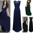 Women's Lace Long Maxi Full Skirt Formal Evening Cocktail Party Prom Maxi Dress
