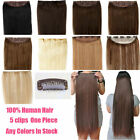 Full Head One Piece Clip In Remy Human Hair Extensions Hair pieces 16''20''22''