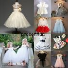 Flower Girls Summer Skirt Princess Dress Kids Baby Party Pageant Wedding Dresses