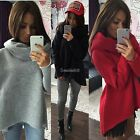 New Womens Long Sleeve Turtleneck Pullover Tops Shirt Blouse Sweater PLUS SIZE