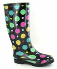 Ladies Black Multi Spot Wellingtons/Wellies UK Sizes 3 - 8 X1109