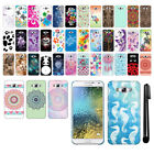 For Samsung Galaxy E7 E700 PATTERN HARD Back Case Protector Phone Cover + Pen