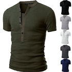 Kyпить Fashion Men's Slim Fit V Neck Short Sleeve Muscle Tee T-shirt Casual Tops Blouse на еВаy.соm