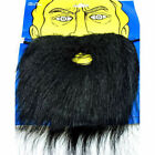 Adult Fake Facial Hair Black Beard And Moustache Mustache Costume Accessory NEW