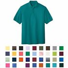 BIG MEN'S WRINKLE & SHRINK RESISTANT, COTTON/POLY, CLASSIC POLO SHIRT, 7XL-10XL