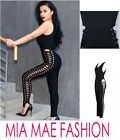 WOMENS CELEB HIGH END SEXYJUMPSUIT BANDAGE LACED UP SIDE LADIES PLAYSUIT FASHION
