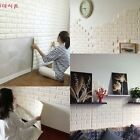 100Pcs 3D Foam Stone Brick Self-adhesive Wallpaper Wall Sticker Panels Decal New