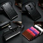 New Fashion Leather Wallet Cards Photo Frame Flip Case for Motorola Moto Phones
